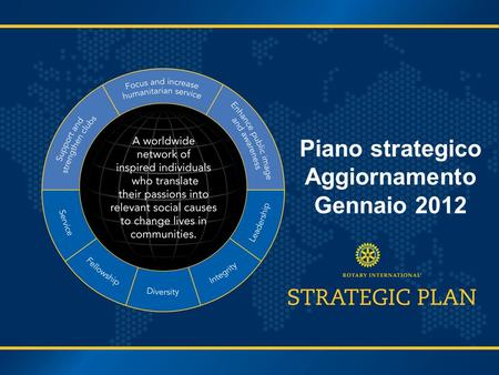 Piano strategico Aggiornamento Gennaio 2012. Percorso per il Piano Strategico Come siamo arrivati qui?