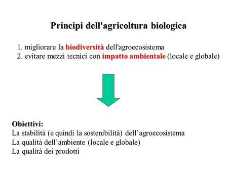 Principi dell'agricoltura biologica