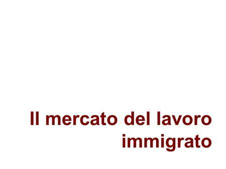 Il mercato del lavoro immigrato. Definizioni Migrante (secondo lONU) Una persona che si è spostata in un paese diverso da quello di residenza abituale.