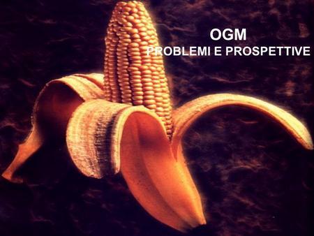 OGM PROBLEMI E PROSPETTIVE. Partiamo dalla b c.. Cosa significa OGM? Organismo Geneticamente Modificato Cosè un OGM? Organismo il cui patrimonio genetico.
