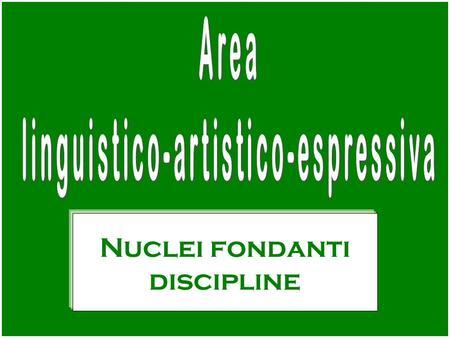 Nuclei fondanti discipline. Informazione/Comunicazione Decodifica e produzione di messaggi orali e scritti (competenze: tecnica – lessicale/frasale) Espressione.