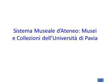 Sistema Museale dAteneo: Musei e Collezioni dellUniversità di Pavia.