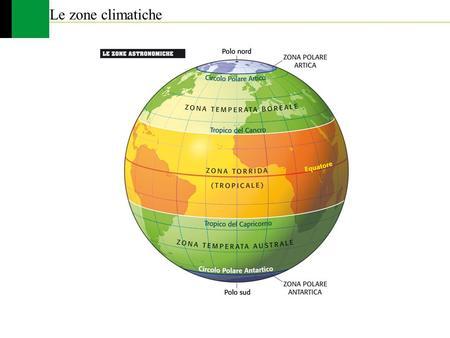 Le zone climatiche.